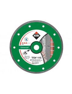 RUBI TARCZA DIAMENTOWA TSV 125 PRO DO CIĘCIA MATERIAŁÓW BUDOWLANYCH NA SUCHO 125X22,2 MM
