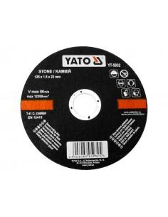 YATO TARCZA DO CIĘCIA KAMIENIA 125X22 MM