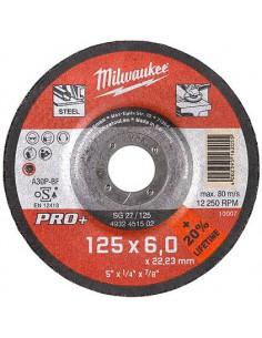 MILWAUKEE TARCZA SZLIFIERSKA PRO+ 125X22,2X6MM