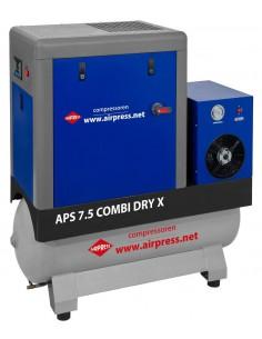 AIRPRESS KOMPRESOR ŚRUBOWY Z OSUSZACZEM APS 7,5 COMBI DRY X 670L/MIN 200L