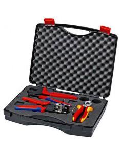 Knipex Zestaw Szczypiec Do Fotowoltaiki Szczypce Crimp System / Izolacji / Tnące w Walizce 3cz