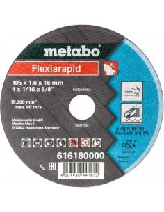 METABO FLEXIARAPID INOX TARCZA DO CIĘCIA INOX 105X1,6X16,0 TF 41