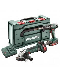 METABO COMBO SET 2.4.4 18V WIERTARKO WKRĘTARKA SB18 + SZLIFIERKA KĄTOWA W 18 LTX 125 QUICK 1X2AH 1X4AH METABOX