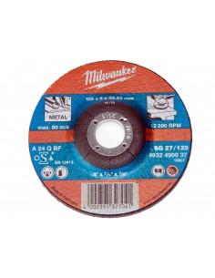 MILWAUKEE TARCZA SZLIFIERSKA DO SZLIFOWANIA METALU 125X22,23 MM