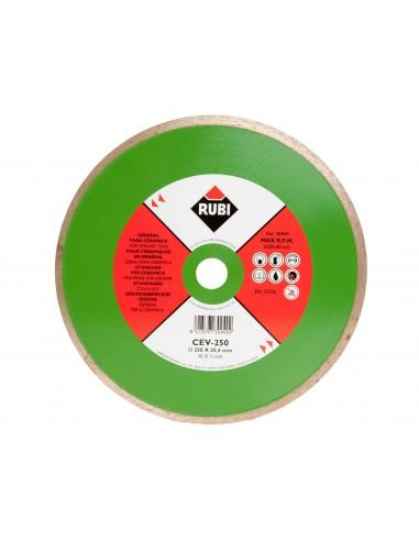 RUBI TARCZA DIAMENTOWA CEV 250 SUPER PRO DO CIĘCIA GLAZURY GRESU NA MOKRO 250X25,4 MM